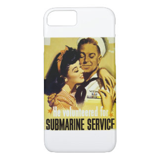 Vintage Submarine Service Poster iPhone 7 Case