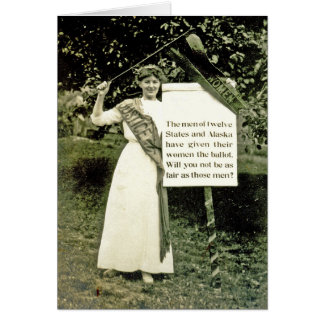 Vintage Suffragette Greeting Card
