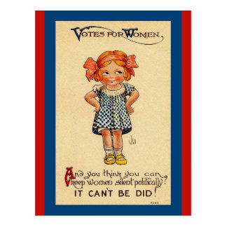 Vintage Suffragettes Cute Little Girl Image Postcard