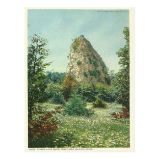 Vintage Sugar Loaf Rock Mackinac Island Michigan Postcard