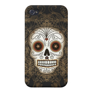 Vintage Sugar Skull Case Savvy iPhone 4 Case