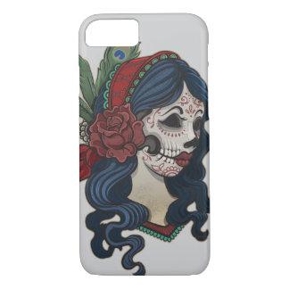 Vintage sugar skull girl with roses v11 iPhone 8/7 case