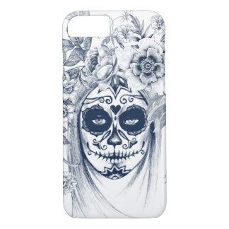 Vintage sugar skull girl with roses v16 iPhone 8/7 case