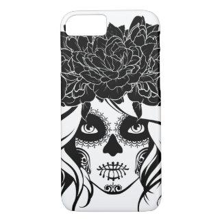 Vintage sugar skull girl with roses v17 iPhone 8/7 case