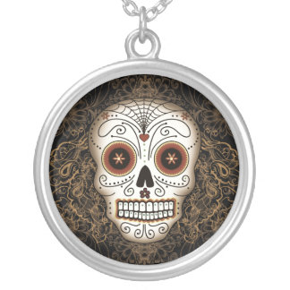 Vintage Sugar Skull Necklace