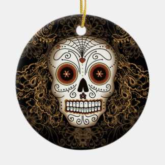 Vintage Sugar Skull Ornament