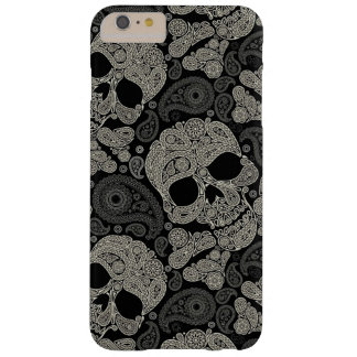 Vintage Sugar Skull Pattern Barely There iPhone 6 Plus Case