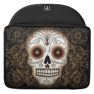 Vintage Sugar Skull Sleeve For MacBooks