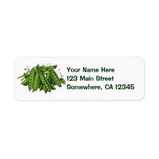 Vintage Sugar Snap Peas, Foods, Healthy Vegetables Return Address Label