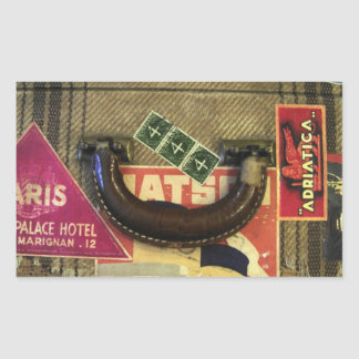 Vintage Suitcase Rectangle Stickers