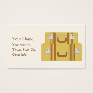 Vintage Suitcases Business Card