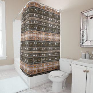 Vintage suitcases - Shower curtain