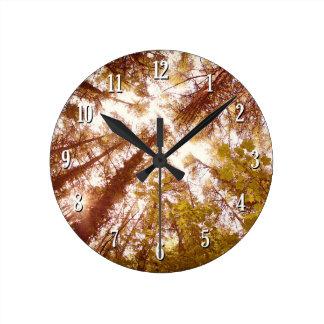 Vintage Summer Trees Round Clock