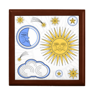 Vintage Sun and Moon Gift Box
