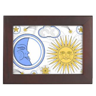 Vintage Sun and Moon Keepsake Box