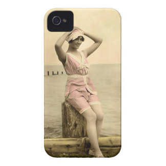 Vintage Sun Bather Beach Babe Case-Mate Case iPhone 4 Case-Mate Cases