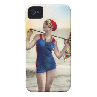 Vintage Sun Bather Beach Babe Case-Mate Case iPhone 4 Cover
