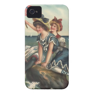 Vintage Sun Bather Beach Babes Case-Mate Case iPhone 4 Cases