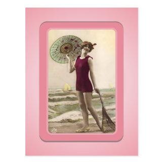 Vintage Sun Bather Beach Babes Postcard