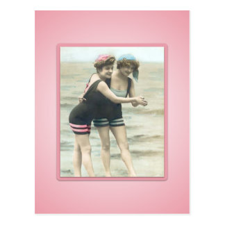 Vintage Sun Bather Beach Babes Postcard
