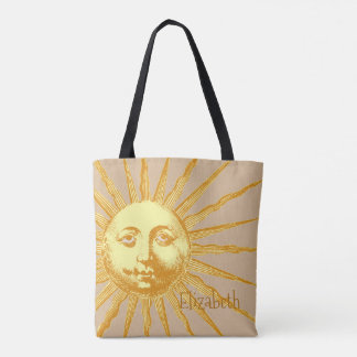 Vintage Sun Custom Tote Bag