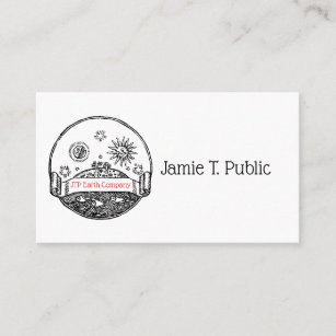 Sun and moon business cards business card printing zazzle ca vintage sun moon stars ocean planet earth drawing business card colourmoves