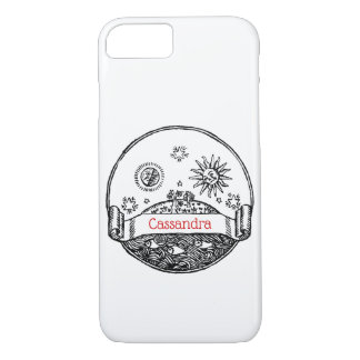 Vintage Sun Moon Stars Ocean Planet Earth Drawing Case-Mate iPhone Case