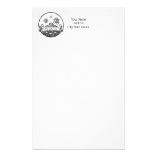 Vintage Sun Moon Stars Ocean Planet Earth Drawing Stationery