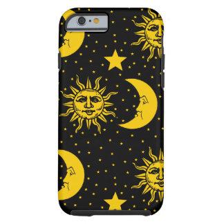 Vintage Sun Moon Stars Pattern Tough iPhone 6 Case