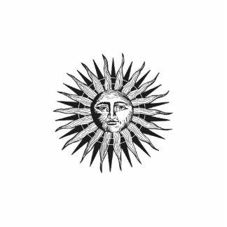 Vintage Sun Standing Photo Sculpture