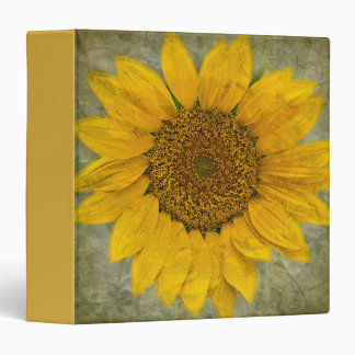 Vintage Sunflower Binder