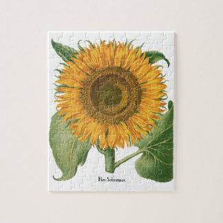 Vintage Sunflower Flower by Basilius Besler Jigsaw Puzzle