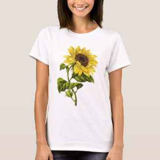 Vintage - Sunflower Illustration T-Shirt