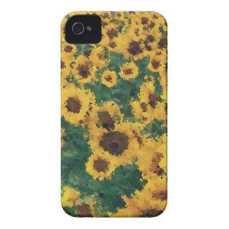 Vintage Sunflower painting art - Blackberry case