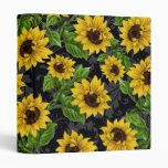 Vintage sunflower pattern binders