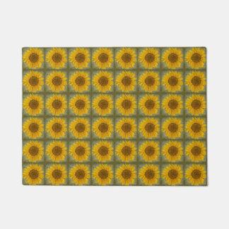 Vintage Sunflower Pattern Door Mat