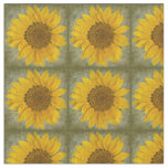 Vintage Sunflower Pattern Fabric