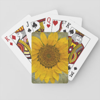Vintage Sunflower Playing Cards