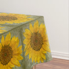 Vintage Sunflower Tablecloth
