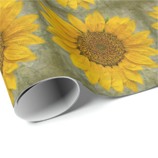 Vintage Sunflower Wrapping Paper