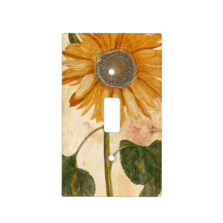 vintage sunfower light switch cover