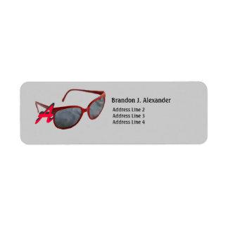 Vintage Sunglasses Return Address Label