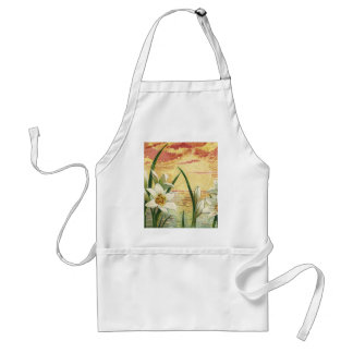 Vintage Sunrise Easter Lilies and Victorian Angels Standard Apron