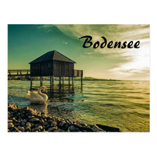Vintage Sunset at Lake Constance Postcard