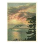 Vintage Sunset Mackinac Island Michigan Post Card