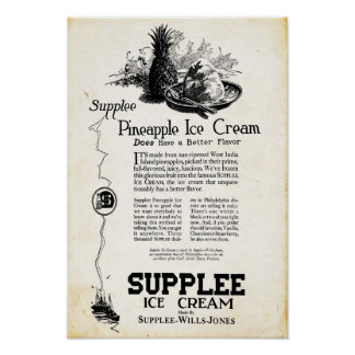 Vintage Supplee Ice Cream Print