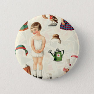 VINTAGE SUPREME PAPER DOLLS SWEETIE 2 INCH ROUND BUTTON