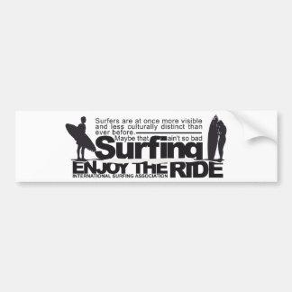 Vintage Surf Bumper Sticker