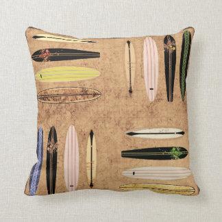 Vintage Surfboard Pillow