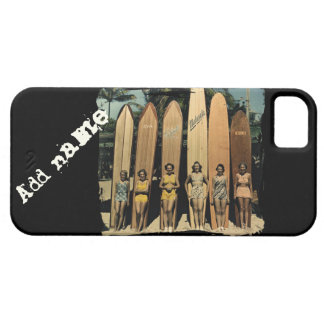 Vintage surfer girls iPhone 5 case